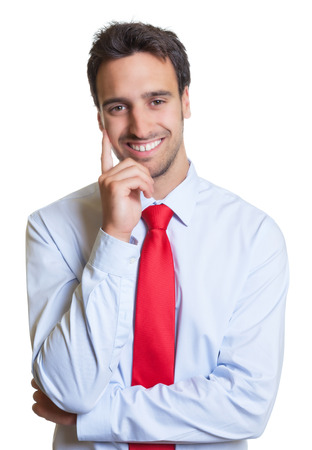 red tie: Smart latin businessman with red tie