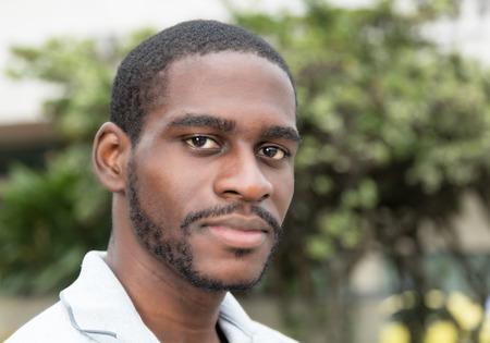 Smiling african man with beard 免版税图像