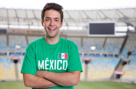 Mexican sports fan at soccer stadium