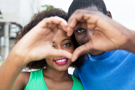 African american couple in love Stockfoto