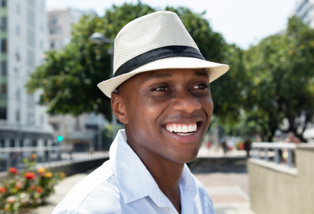 chapeau paille: Handsome man from Cuba with straw hat