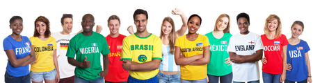 Sports fans from 12 nations