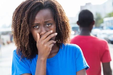 Scheidung eines afroamerikanischen Paar Standard-Bild - 63087495