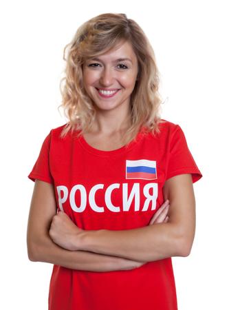 Beautiful russian soccer fan