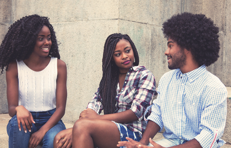 Group of african american people hanging out