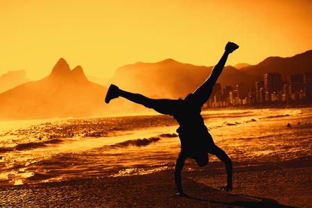 Funny dancer at Rio de Janeiro 版權商用圖片