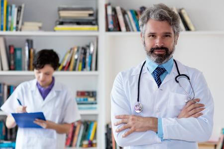 Portrait of german general practitioner at hospital