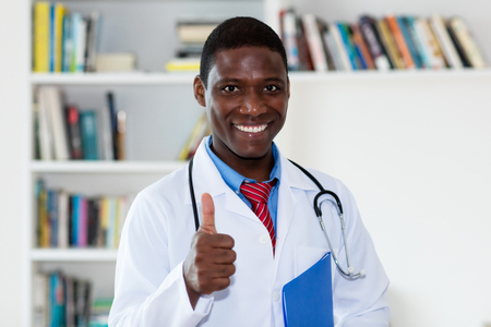 Friendly african american male doctor Stock Photo