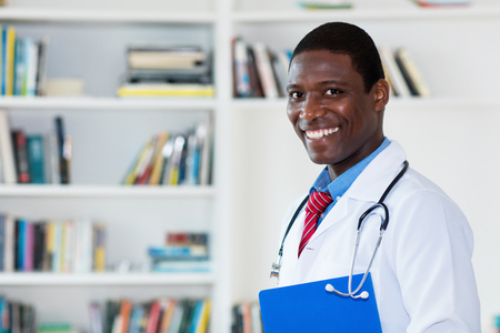 Handsome african american male doctor