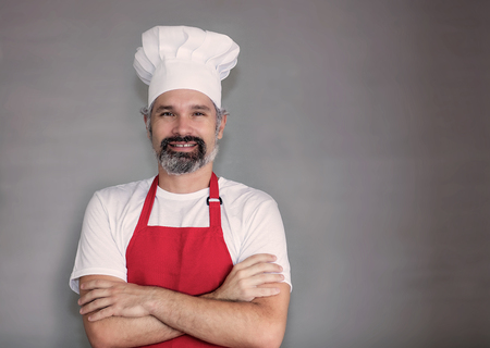 Mature chef with beard and copy space 写真素材