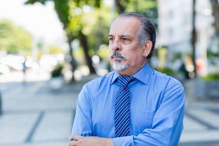 Fired and sad senior businessman