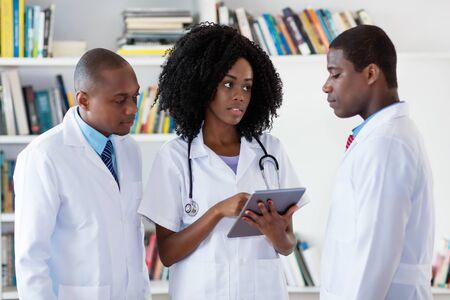 Team of african american doctors
