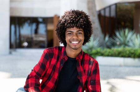 Portrait of african american hipster young adult Stockfoto