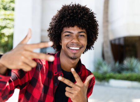 Cool african  american hipster young adult at New York
