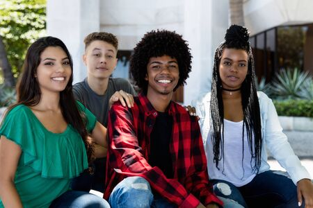 Portrait of latin and hispanic and afrian american young adult people Stockfoto