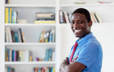 Smart african american businessman with tie and copy space Stockfoto