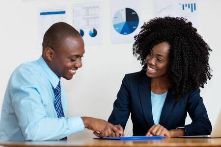Meeting of african american business people Stockfoto