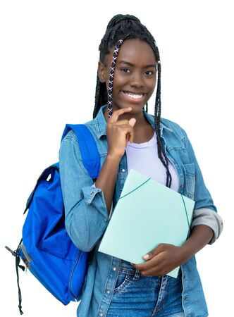 Pretty african female student with dreadlocks
