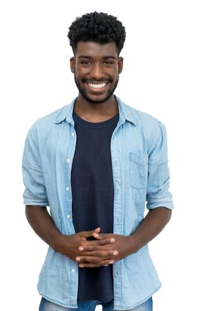 Handsome african american man with beard and casual clothes 写真素材