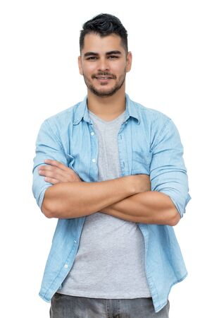 Hispanic hipster man with beard and casual clothes Reklamní fotografie