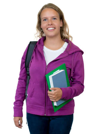 Pretty german female student with blond hair
