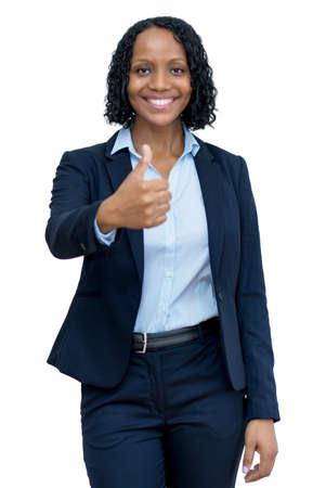 Successful mature adult afro american businesswoman