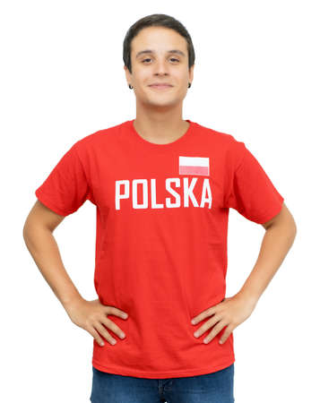 Young football supporter from Poland 免版税图像