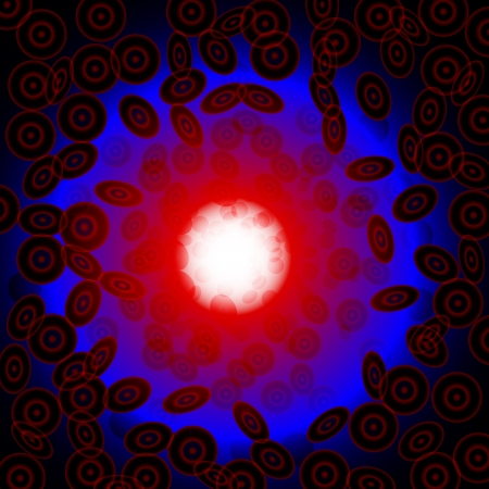 abstract illustration of blood Illustration