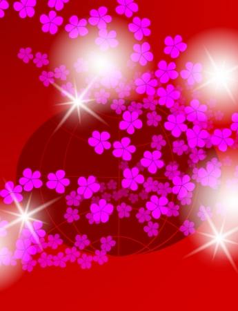 flowers and cosmos, floral background