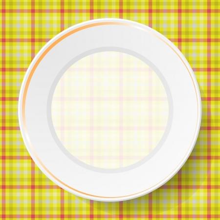 serviette: Image dishes on a napkin