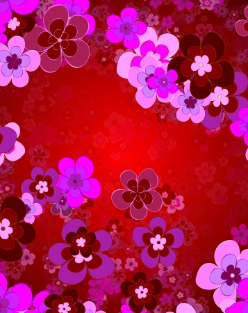 flower of happiness, floral background Иллюстрация