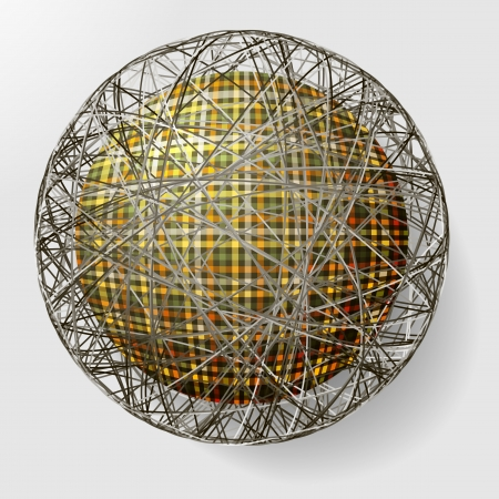 ball with the texture of fabric and within the grid Иллюстрация