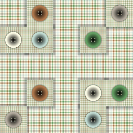 set of fabric with buttons Stock Vector - 22206186