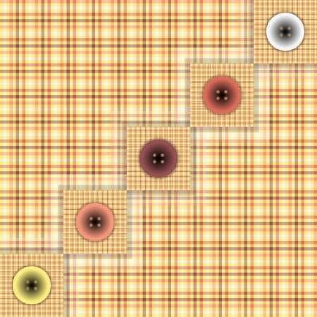 set of fabric with buttons Stock Vector - 22206188