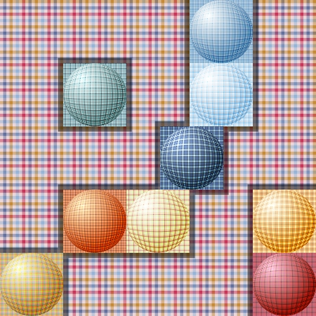 abstract pattern from balls of different colors Illustration