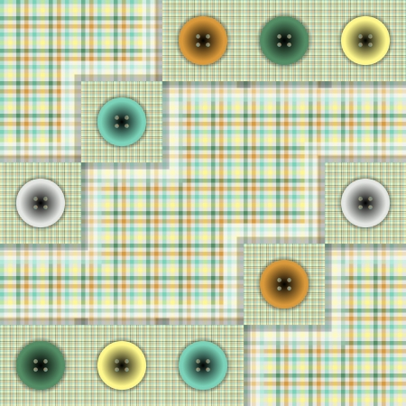 set of fabric with buttons Stock Vector - 22909835