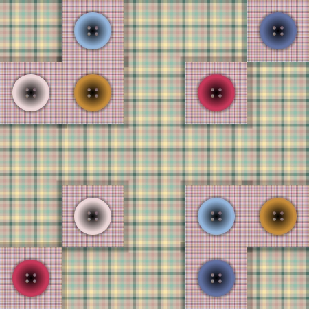 set of fabric with buttons on a contrasting background Stock Vector - 22909872