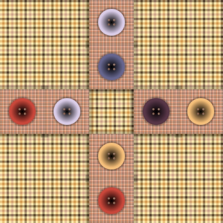 set of fabric with buttons on a contrasting background Vector