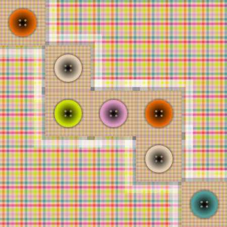 foursquare: set of fabric with buttons