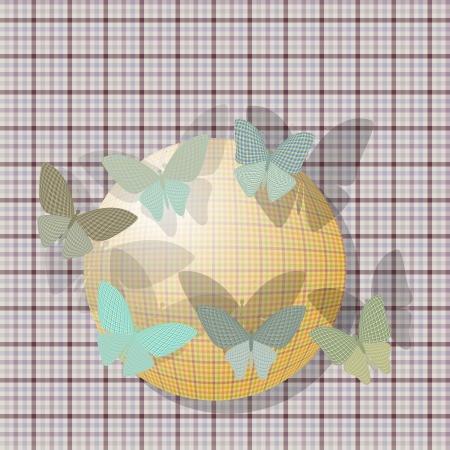 wingspan: gruppo di farfalle vicino alla palla sullo sfondo trama del tessuto