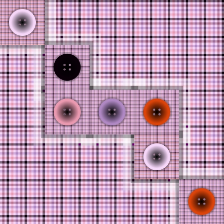 foursquare: piece of cloth with buttons