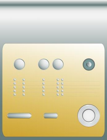 control panel: pannello di controllo o insieme di diversi pulsanti