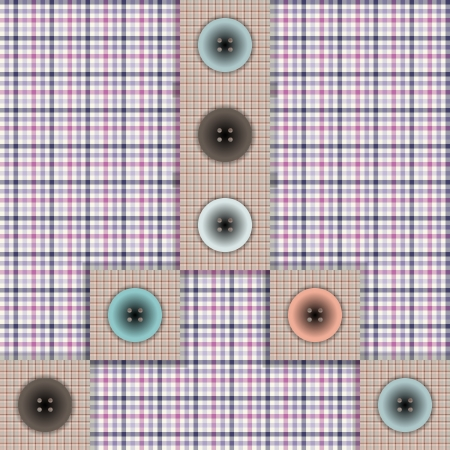 foursquare: set of fabric with buttons on a contrasting background Illustration