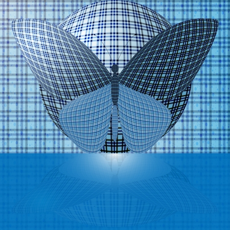 wingspan: butterfly on the ball Illustration