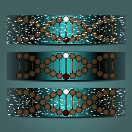 abstract vector illustration of a helical DNA Vector