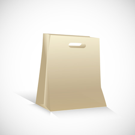 Package made of paper for a pleasant shopping Vector