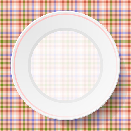 Image dishes on a napkin with a seamless texture