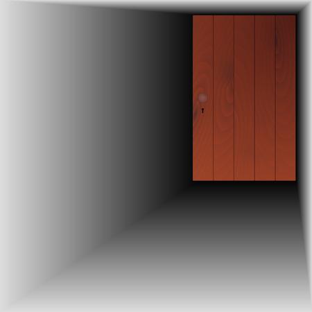 doorhandle: wooden door with handle and keyhole