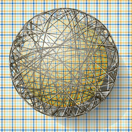 ball with the texture of fabric and within the grid Illustration