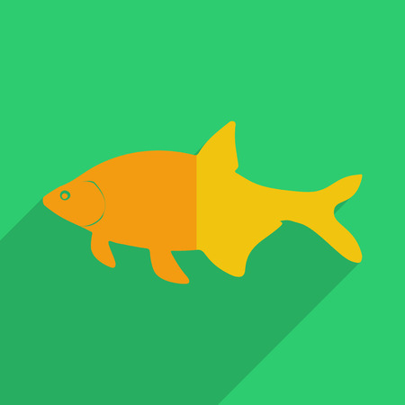 gills: Flat icons modern design with shadow of bream. Vector illustration Illustration